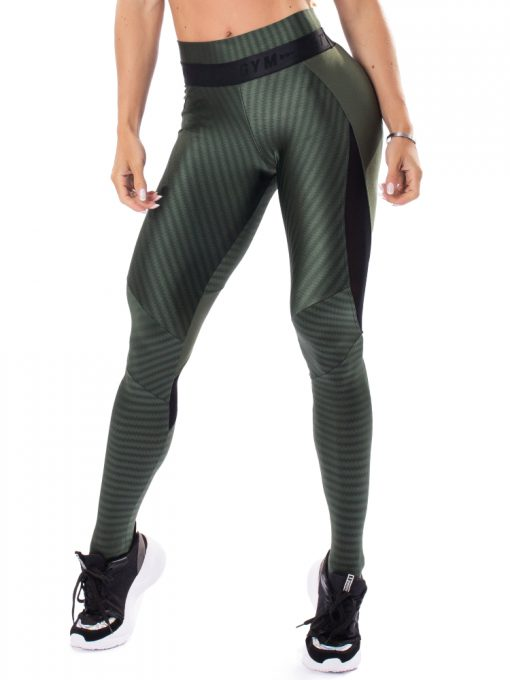 Let's Gym Fitness Winner Leggings - Military Green