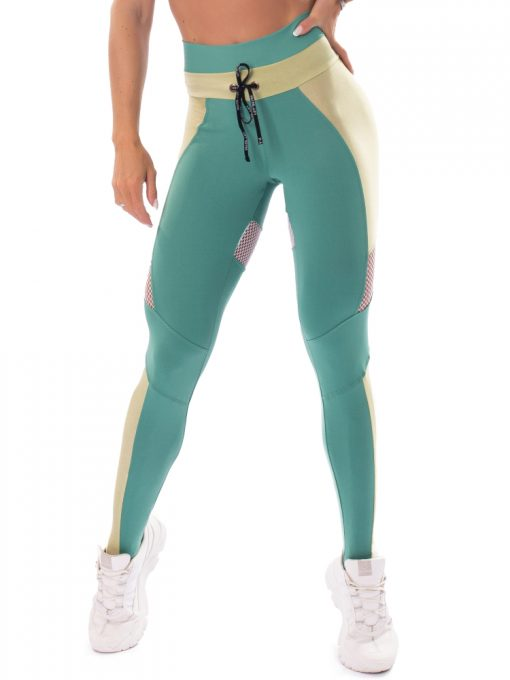 Let's Gym Fitness Fusion Leggings - Mint