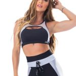 Lets Gym Fitness Fusion Sports Bra Top - Black