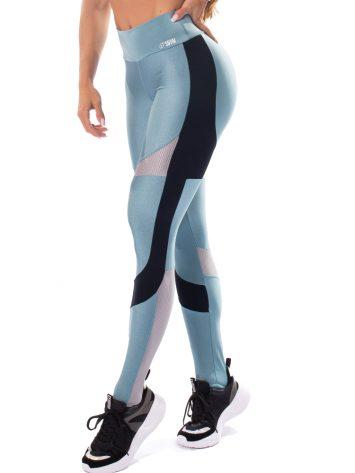 Let's Gym Fitness Glowing Secret Leggings – Blue