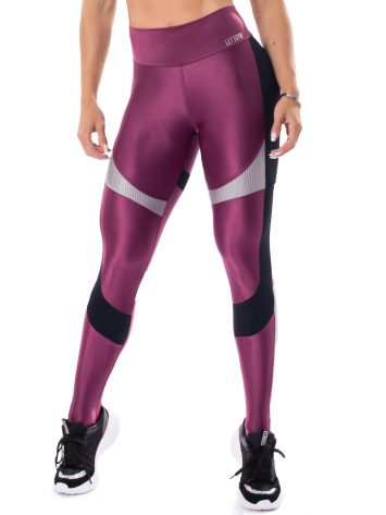 Let's Gym Fitness Glowing Secret Leggings – Purple
