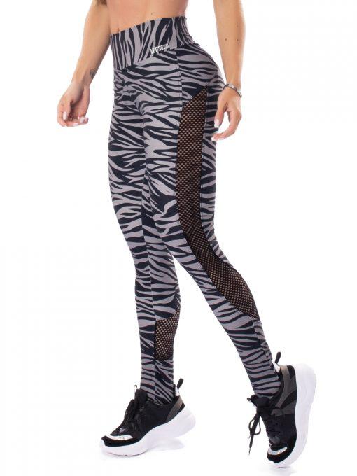 Let's Gym Fitness Jungle Leggings - Black