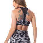 Lets Gym Fitness Jungle Sports Bra Top - Black