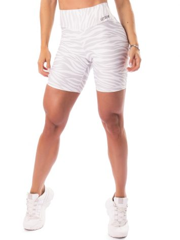 Let's Gym Fitness Jungle Shorts – White