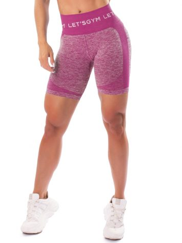 Let's Gym Fitness Seamless Diamond Shorts – Pink