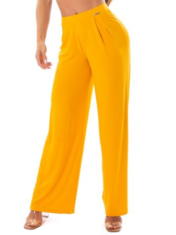 Let's Gym Fitness Heaven Wide Pants – Yellow