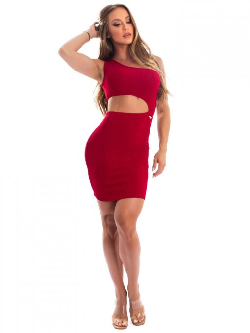 Let's Gym Fitness - Youth Ribbed Dress - Red