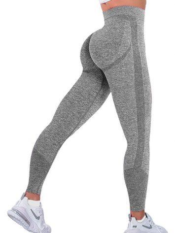BFB Scrunchie Seamless High Waisted Leggings – Gray
