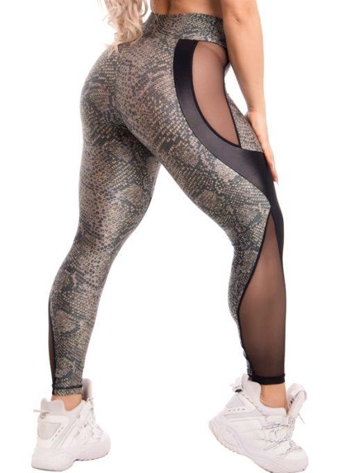 Trincks Fitness Activewear Style Digital Legging - Green