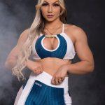 Trincks Fitness Activewear 3D Hot Sports Bra Top - Blue/White