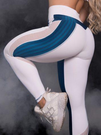 Trincks Fitness Activewear Woman 3D Legging – Blue/White