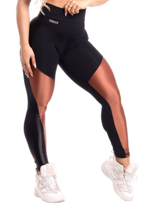 Trincks Fitness Activewear Shine Legging - Black/Gold