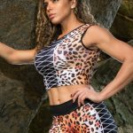 DYNAMITE Brazil Cropped Blouse Jaguar - Animal Print