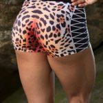 DYNAMITE BRAZIL Jaguar Shorts - Animal Print