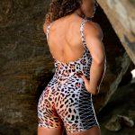 Dynamite Brazil Jaguar Jumpsuit Monkey - Animal Print