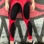 DYNAMITE Brazil Leggings Red Corset Black Zenith