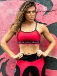 DYNAMITE Sports Bra Top - Black Red