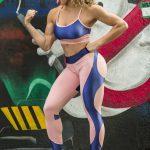 DYNAMITE Sports Bra Top - Rose Royal Blue