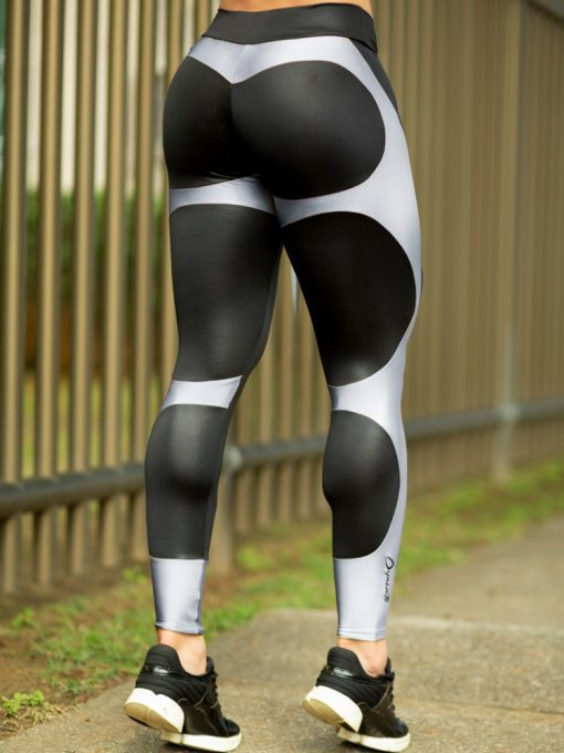 DYNAMITE Brazil Leggings Apple Booty Platinum - Black Silver